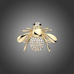 Broszka w kształcie pszczoły - 2 kolory