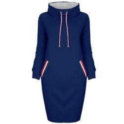 Ženska duks-haljina sa kapuljačom - 7 varijanti