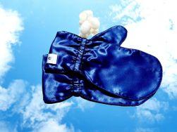 Luxusní hedvábné rukavičky pro omlazení pleti - MODRÉ L