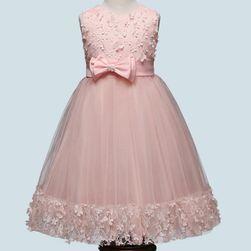 Dívčí šaty s mašličkou - 4 barvy