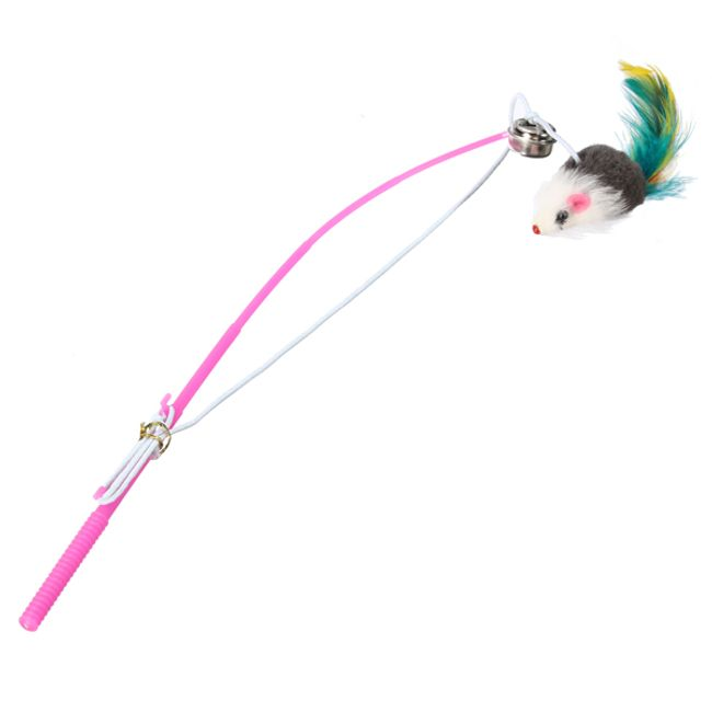 Zabawka dla kotów - mysz na sznurku 1