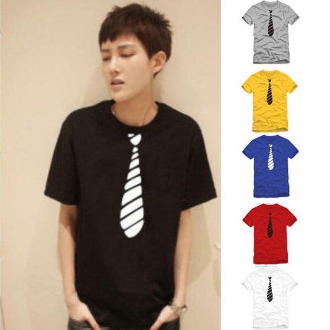 Pánské tričko s kravatou - na výběr ze 6 barev 1