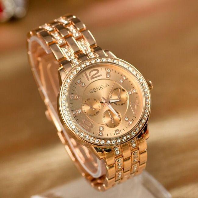 Ženski sat sa kamenčićima - 3 varijante 1