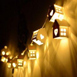 Karácsonyi LED-es fény - 10 házikó