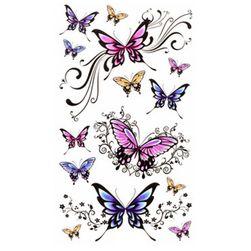 Privremene tetovaže za žene - leptiri