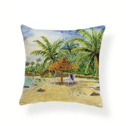 Povlak na polštářek v tropickém stylu