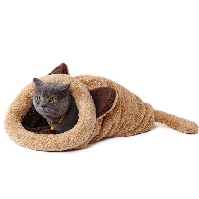 Plyšová schovávačka pro kočky - 4 barvy 1