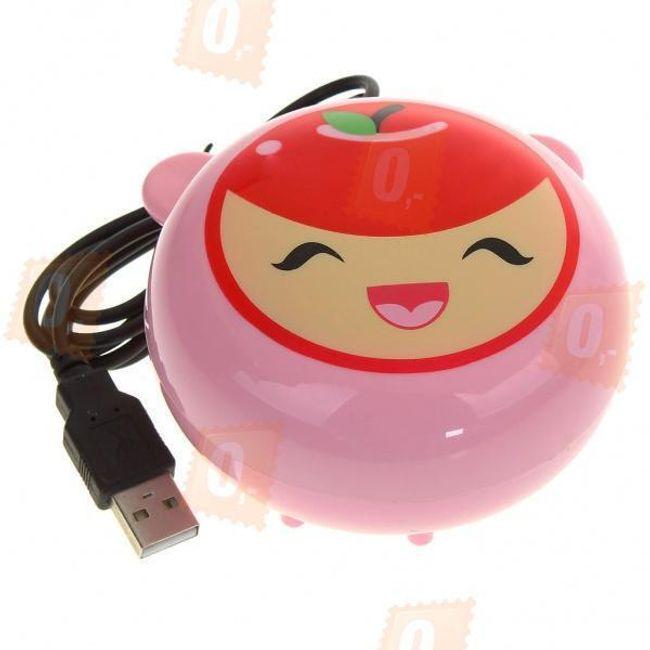 USB ohřívač rukou s motivem veselého jablíčka 1