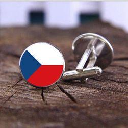 Manžetové knoflíčky s českou vlajkou