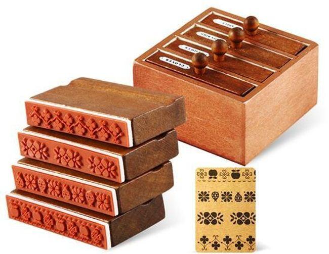 4 tiskátka v dřevěném boxu 1