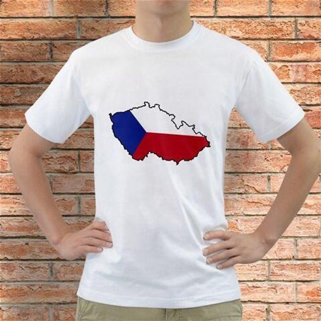 Футболка Чехия на карте 1