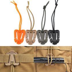 Upevňovací klip na batoh - elastický