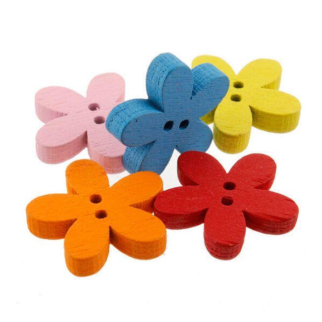 Цветные красочные деревянные пуговицы -  100 штук 1