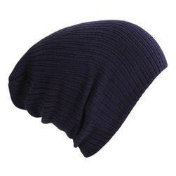 Örme kış şapka Lacivert