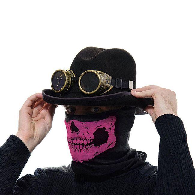 Maska na kolo nebo motorku s motivem lebky - sada 3 kusů 1