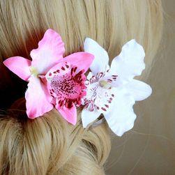 Sztuczna orchidea do włosów - 6 kolorów