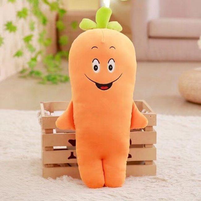 Plyšová mrkev - polštářek 1
