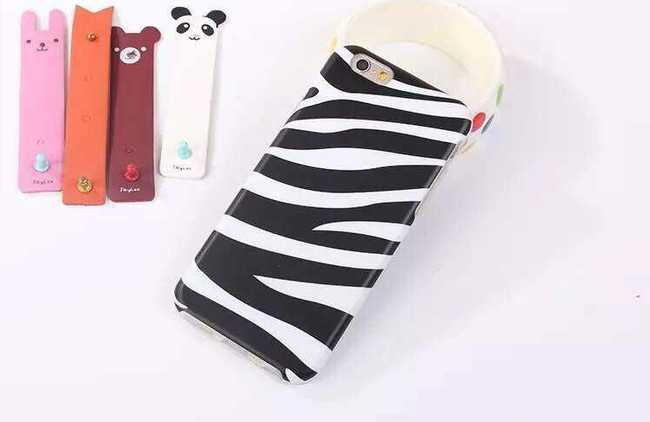 Plastový ochranný kryt na iPhone 5S, 6 a 6 plus - motiv zebra 1