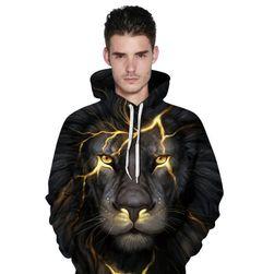Unisex pulóver oroszlánnyomattal