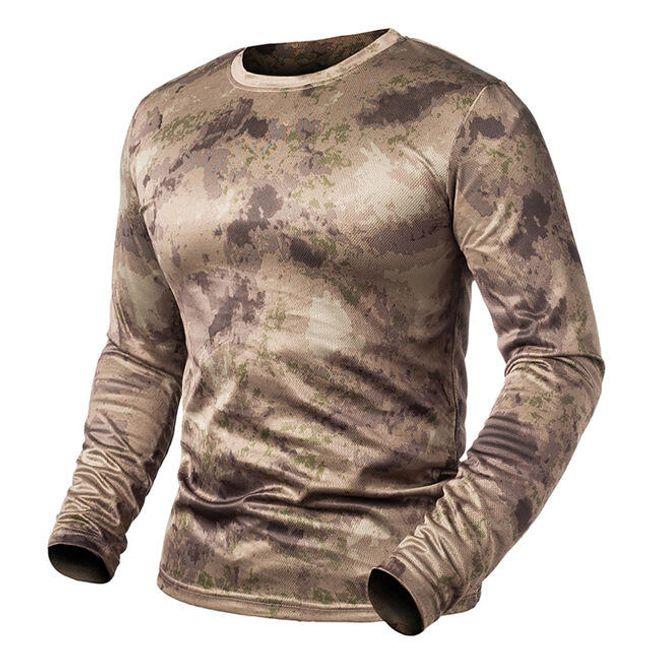 Camouflage póló  hosszú ujjú