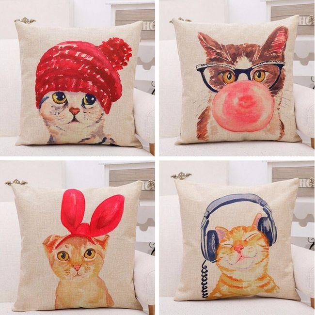 Párnahuzat macskákkal - 4 változat 1