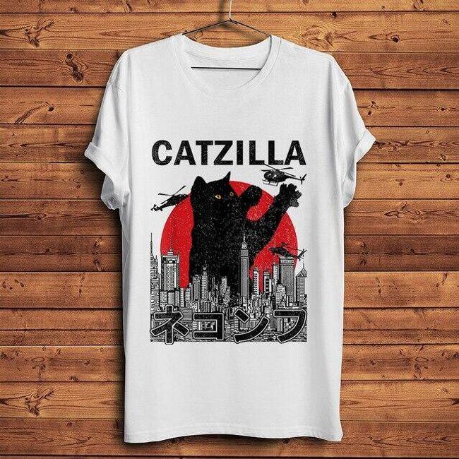 Męska koszulka z krótkim rękawem Catzilla 1