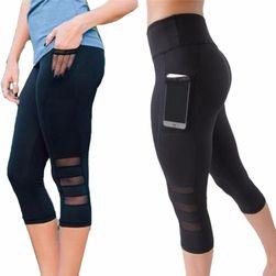 Dámské fitness legíny s kapsou na mobil
