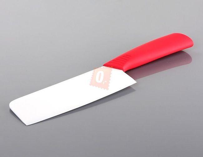 Keramický nůž čepel 165mm s červenou rukojetí 1