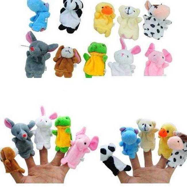 Pluszowe kukiełki na palce - 10 zwierzątek 1