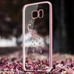 Carcasă din silicon cu lebădă, păun sau bufniță pentru Samsung S7 și S7 Edge