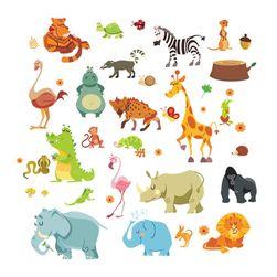 Matrica a falon gyerekeknek- állatkák