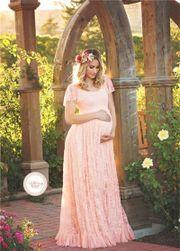 Dlouhé těhotenské šaty - 5 barev
