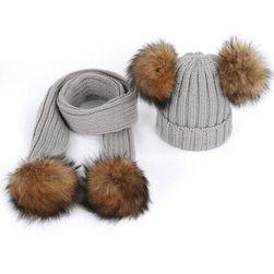 Шапка и шарф для девочки BN96