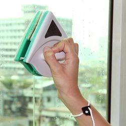 Mıknatıslı çift taraflı cam silici