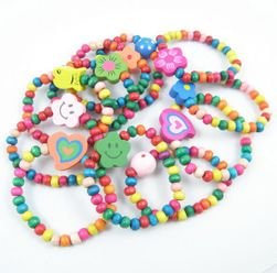 Gyermek karkötő gyöngyökkel - 12 db