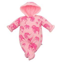Zimní kojenecká kombinéza s kapucí RW_kombineza-sloni-cak-Babys179