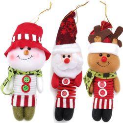 Vánoční flanelová postavička s pružinkou