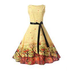 Sukienka retro z pięknymi motywami - 4 warianty