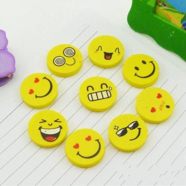 4 kusy gum v designu smajlíka 1