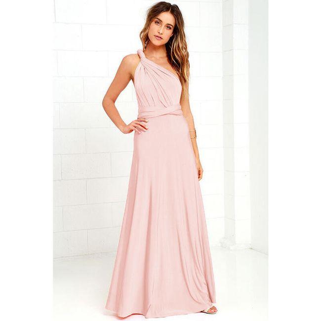 Antična rožnata obleka 1