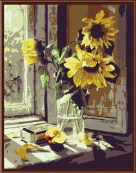 Slikanje po brojevima - suncokret u vazi