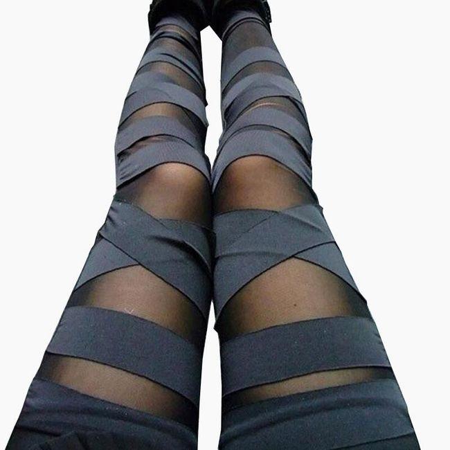 Női nadrág  hálóval és övvel