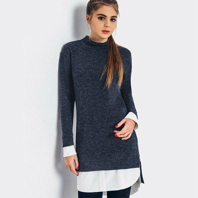 Zimní šaty s imitací košile 1