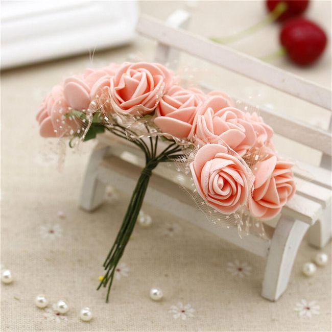 Květiny umělé na dekoraci - 12 ks 1