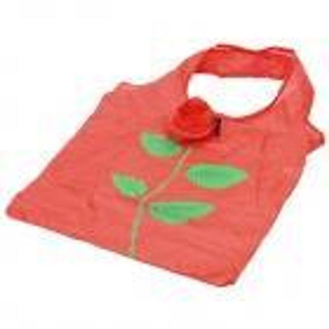 Skládací taška s růží - červená 1