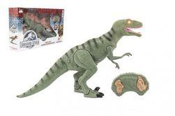 Dinosaurus chodící IC velociraptor plast 50cm na baterie se zvukem se světlem v krabici 53x32,5x12cm RM_00311683
