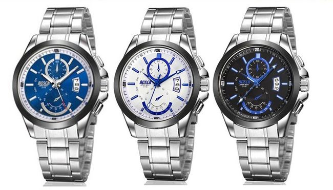 Moška kovinska ura s datumom - 3 različice 1