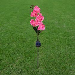 Външна лампа във формата на орхидея - със слънчев панел