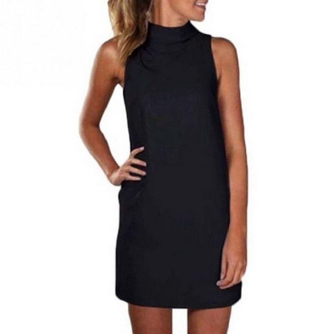 Стильное однотонное платье-мини 1