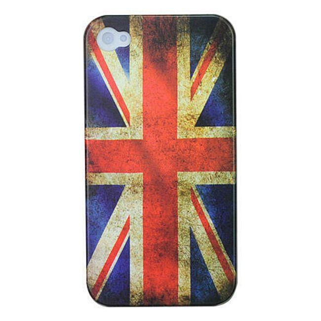 Plastový ochranný kryt na iPhone 4 a 4S - vlajka Velké Británie 2 1